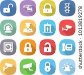 flat vector icon set   unlock...   Shutterstock .eps vector #1013819278