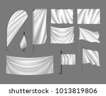 flags vector mockup. set white... | Shutterstock .eps vector #1013819806