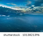 mountain hill with aerial view. | Shutterstock . vector #1013821396