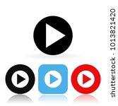 play icons. vector illustration ...   Shutterstock .eps vector #1013821420
