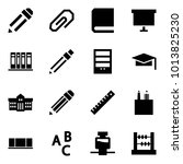 origami style icon set   pencil ... | Shutterstock .eps vector #1013825230