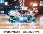 social networking service... | Shutterstock . vector #1013827996