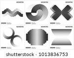 set 6 universal halftone... | Shutterstock .eps vector #1013836753