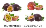 passion fruit isolated on white ... | Shutterstock . vector #1013841424