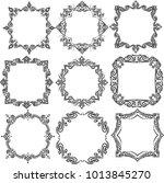 frame set for art work... | Shutterstock .eps vector #1013845270