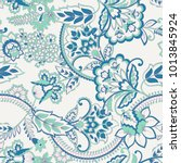 floral seamless vintage pattern.... | Shutterstock .eps vector #1013845924