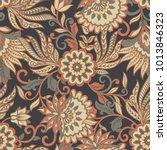 vintage pattern in  batik style.... | Shutterstock .eps vector #1013846323