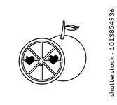 isolated orange design | Shutterstock .eps vector #1013854936