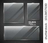 glass plates set. glass banners ... | Shutterstock .eps vector #1013857030