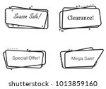 banner flat design isolated on... | Shutterstock .eps vector #1013859160
