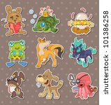 animal stickers | Shutterstock .eps vector #101386258