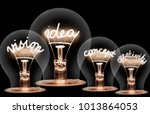 photo of light bulbs with... | Shutterstock . vector #1013864053