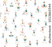 active lifestyle  sports... | Shutterstock .eps vector #1013865544