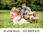 harmony and luck in the family... | Shutterstock . vector #1013869123