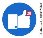 thumbs up like social network... | Shutterstock .eps vector #1013870878