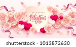 valentine hearts with...   Shutterstock .eps vector #1013872630