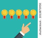customer review concept. vector....   Shutterstock .eps vector #1013873950