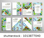 set of a4 cover  abstract... | Shutterstock .eps vector #1013877040