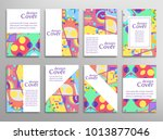 set of a4 cover  abstract...   Shutterstock .eps vector #1013877046