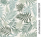 tropical background with palm... | Shutterstock .eps vector #1013880739