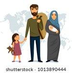 refugees infographic. social...   Shutterstock . vector #1013890444