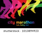 running competition. crowd of... | Shutterstock .eps vector #1013894923