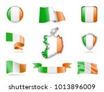 Ireland Flags Collection. Flag...