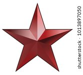 red star with black border   ... | Shutterstock .eps vector #1013897050