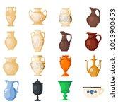 amphora vector amphoric ancient ... | Shutterstock .eps vector #1013900653