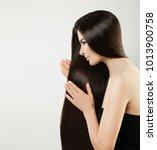 beauty portrait of brunette...   Shutterstock . vector #1013900758