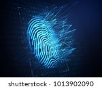 a computer identify and... | Shutterstock . vector #1013902090