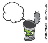 angry empty can with speech... | Shutterstock .eps vector #1013902609