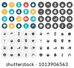 drink icons set | Shutterstock .eps vector #1013906563