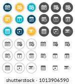 calendar icons set | Shutterstock .eps vector #1013906590
