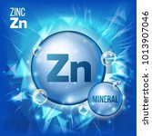 zn zinc vector. mineral blue...   Shutterstock .eps vector #1013907046