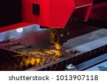 cnc lathe machine for industry. ... | Shutterstock . vector #1013907118