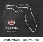 florida map  vector pen drawing ... | Shutterstock .eps vector #1013910700