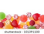 colorful jelly candies isolated ... | Shutterstock . vector #101391100