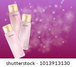 glamorous perfume glass bottles ... | Shutterstock .eps vector #1013913130