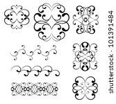 swirl elements and monograms... | Shutterstock .eps vector #101391484