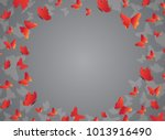 glowing background with magic... | Shutterstock .eps vector #1013916490