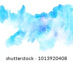 abstract blue water color... | Shutterstock . vector #1013920408