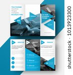 vector tri fold brochure with a ... | Shutterstock .eps vector #1013923300