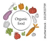 organic food banner with... | Shutterstock .eps vector #1013923759
