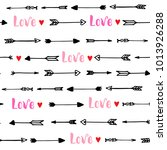 seamless pattern with arrows... | Shutterstock .eps vector #1013926288