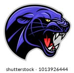vector illustration of panther... | Shutterstock .eps vector #1013926444