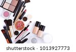makeup brush and decorative... | Shutterstock . vector #1013927773