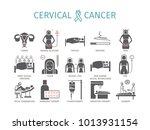 cervical cancer. symptoms ... | Shutterstock . vector #1013931154