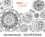 oriental sweets vector... | Shutterstock .eps vector #1013932066
