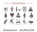 rheumatism symptoms  treatment. ... | Shutterstock . vector #1013932150